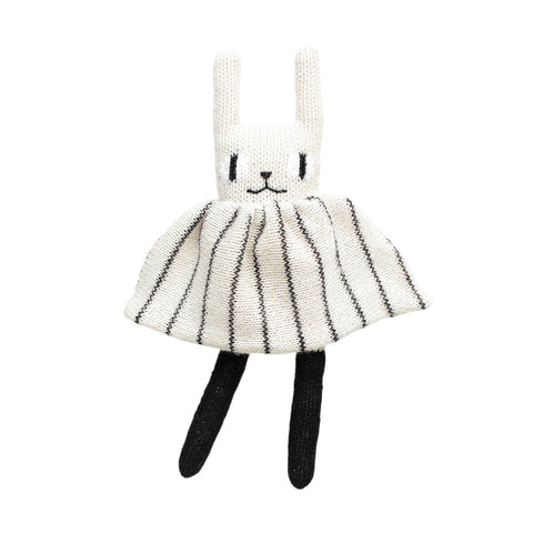 Rabbit Soft Toy in Black and White by Main Sauvage - Junior Edition