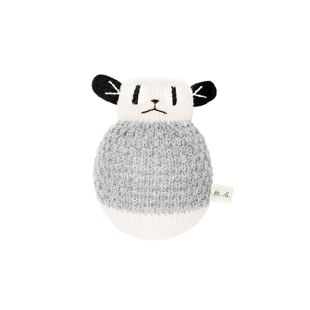 Loris Roly Poly Soft Toy in Grey by Main Sauvage - Junior Edition