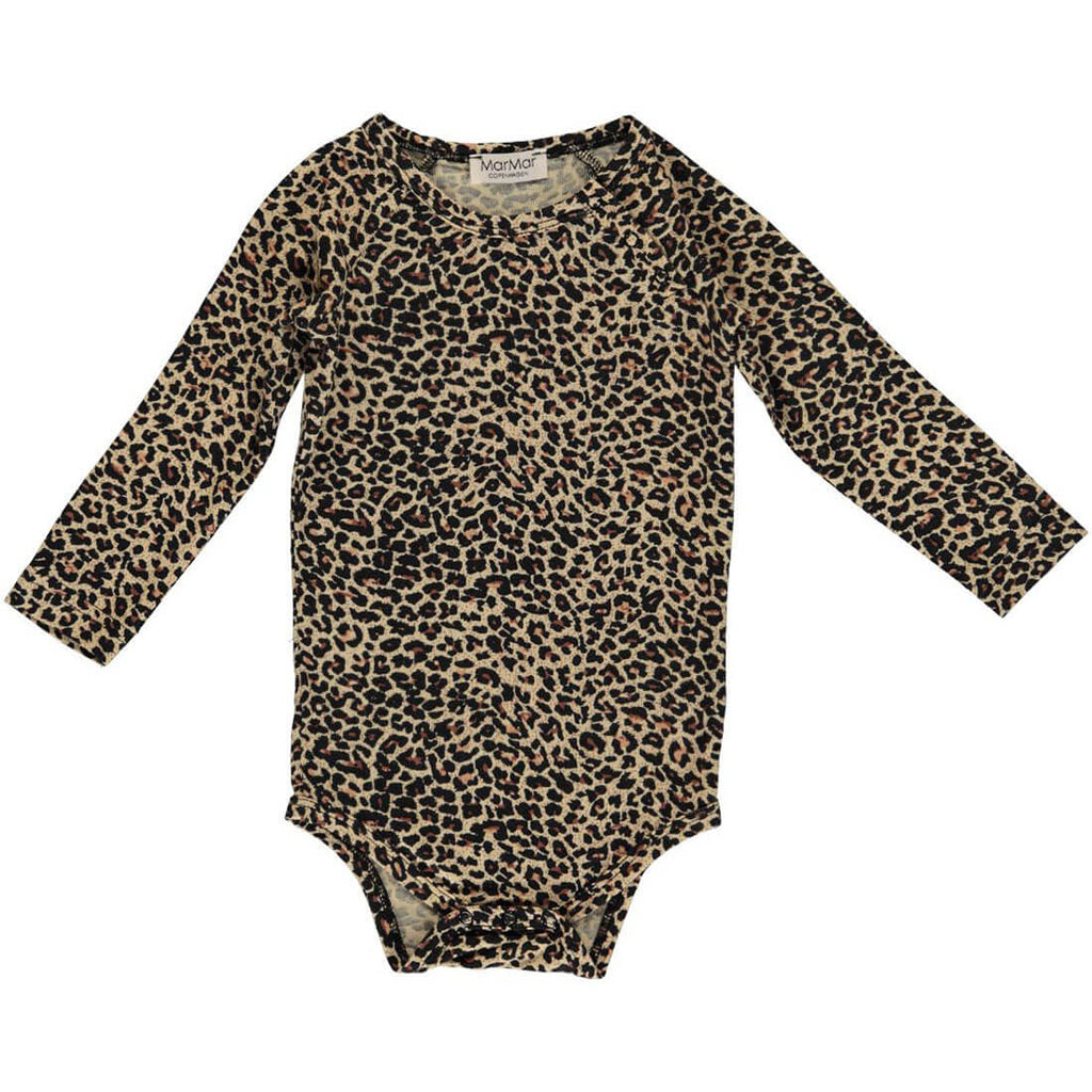 Leo Bodysuit in Brown by MarMar Copenhagen - Junior Edition