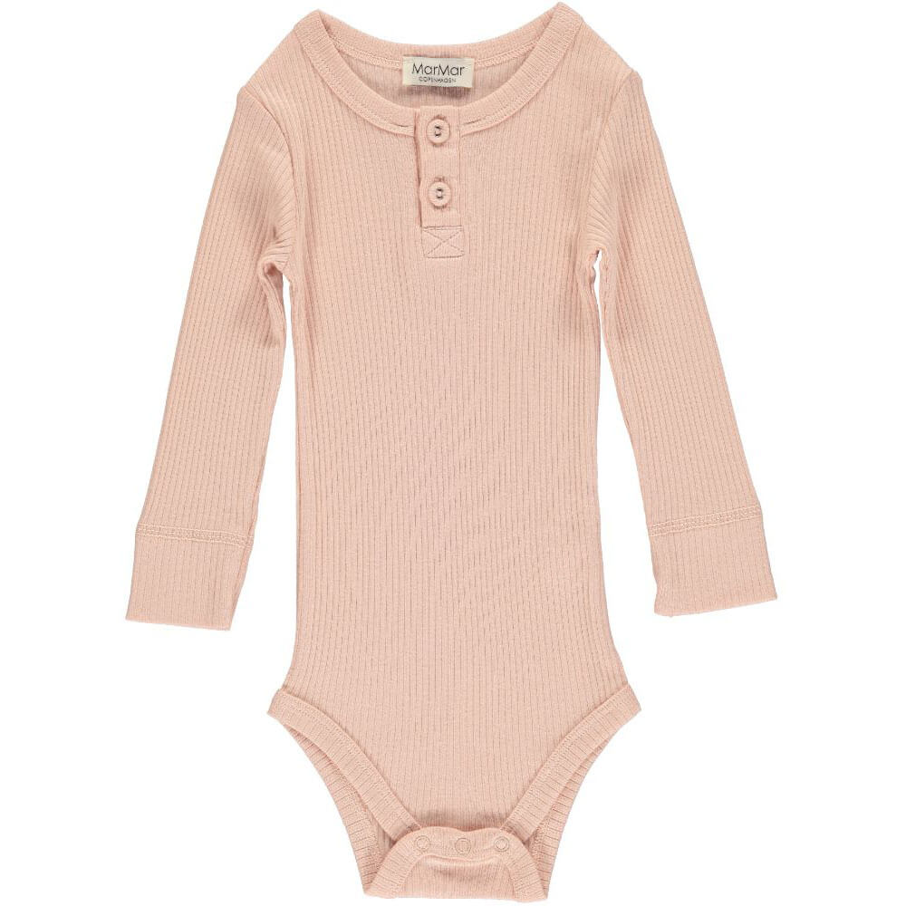 Rib Bodysuit in Rose by MarMar Copenhagen - Junior Edition