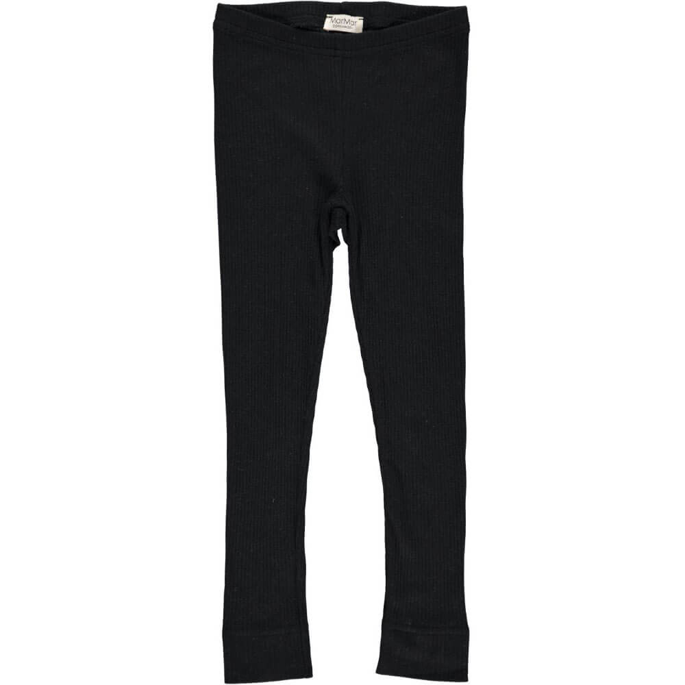 Rib Leggings in Black by MarMar Copenhagen - Junior Edition