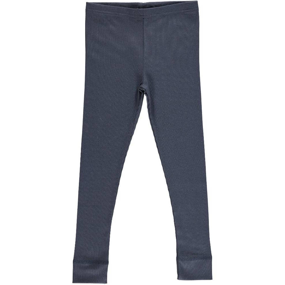 Rib Leggings in Blue by MarMar Copenhagen - Junior Edition