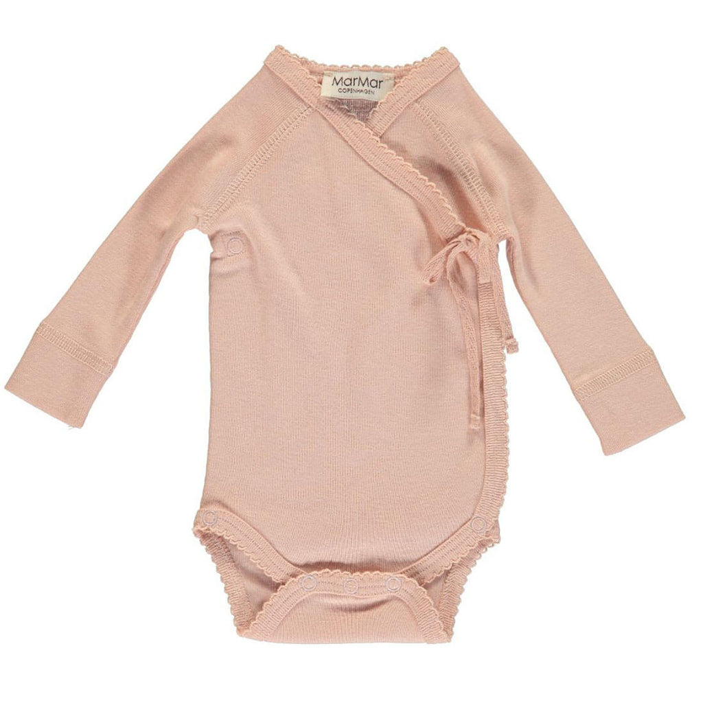 Wrap Bodysuit in Rose by MarMar Copenhagen - Junior Edition