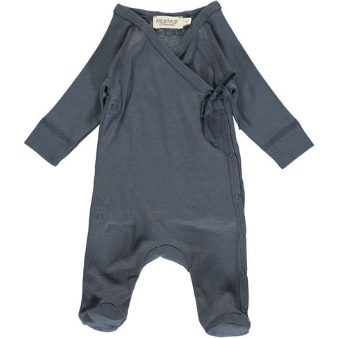 Wrap Romper in Blue by MarMar Copenhagen - Junior Edition