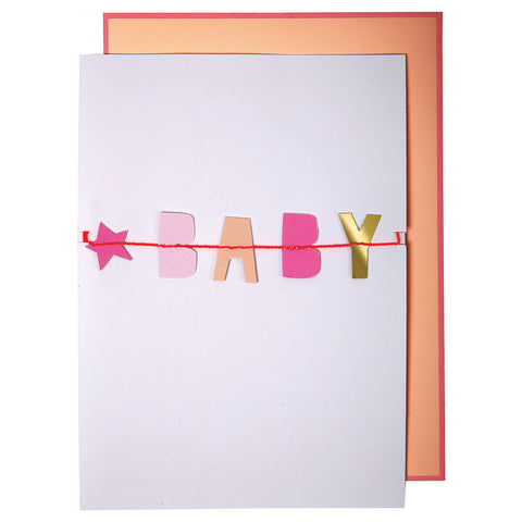 Baby Baby Garland New Baby Card by Meri Meri - Junior Edition