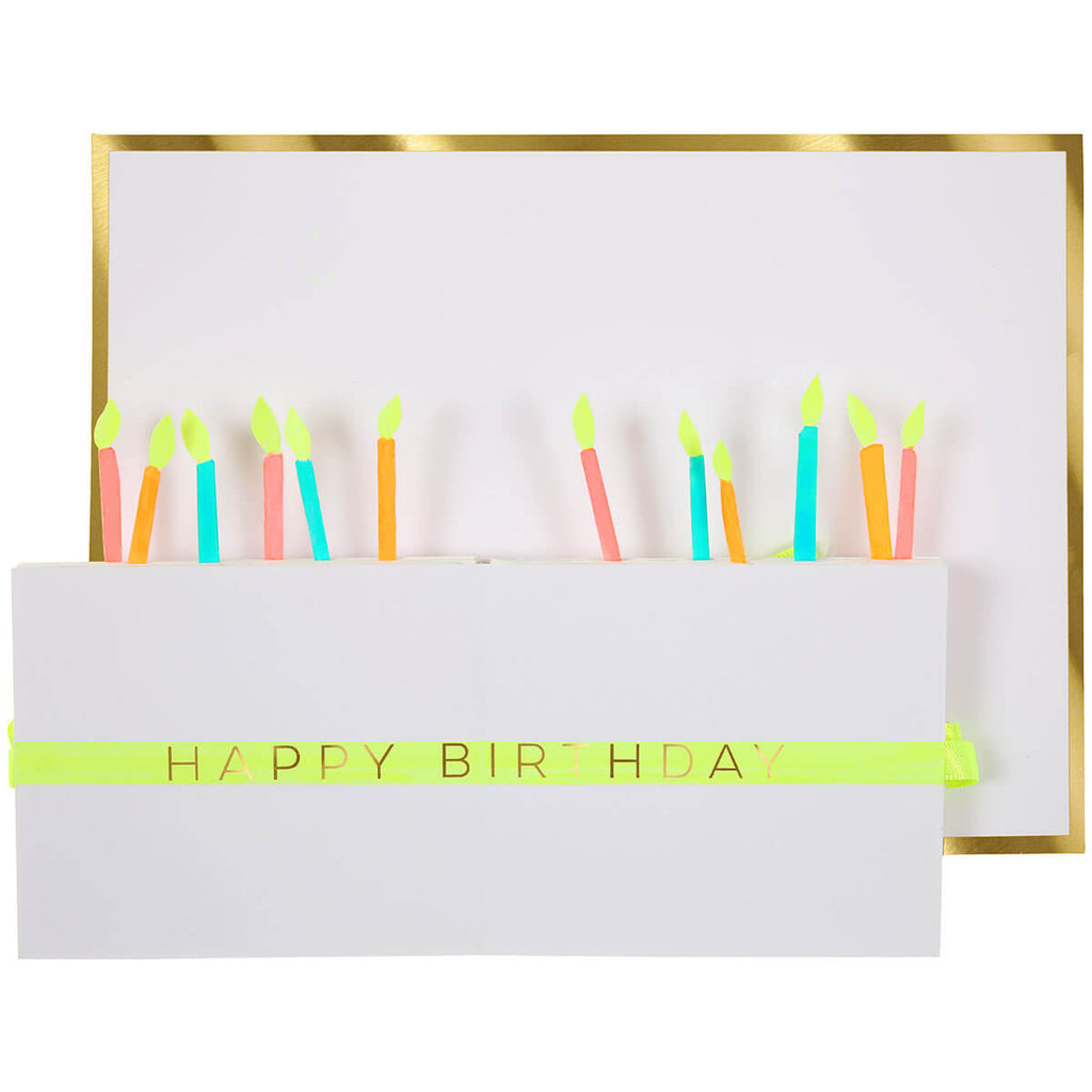 Birthday Cake Pop Up Honeycomb Greetings Card by Meri Meri - Junior Edition