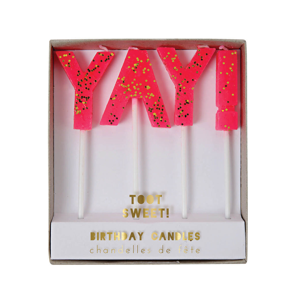Yay! Candles by Meri Meri - Junior Edition