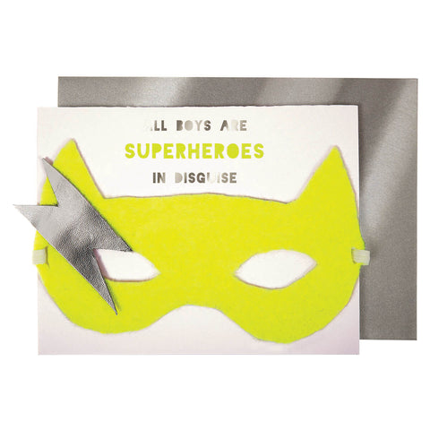 Boy Superhero Greetings Card by Meri Meri