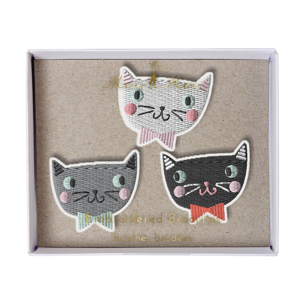 Cat Brooches by Meri Meri - Junior Edition