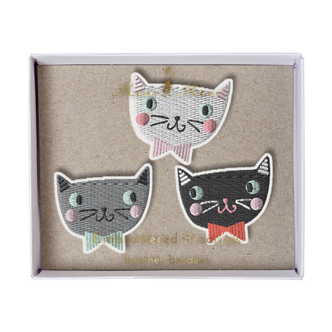 Cat Brooches by Meri Meri