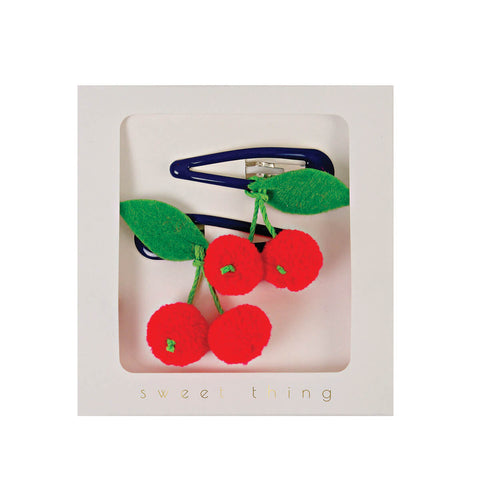 Cherries Hair Clips by Meri Meri - Junior Edition