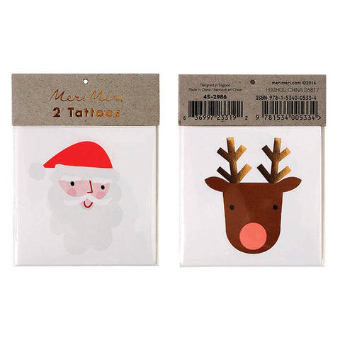 Santa And Reindeer Tattoos by Meri Meri - Junior Edition