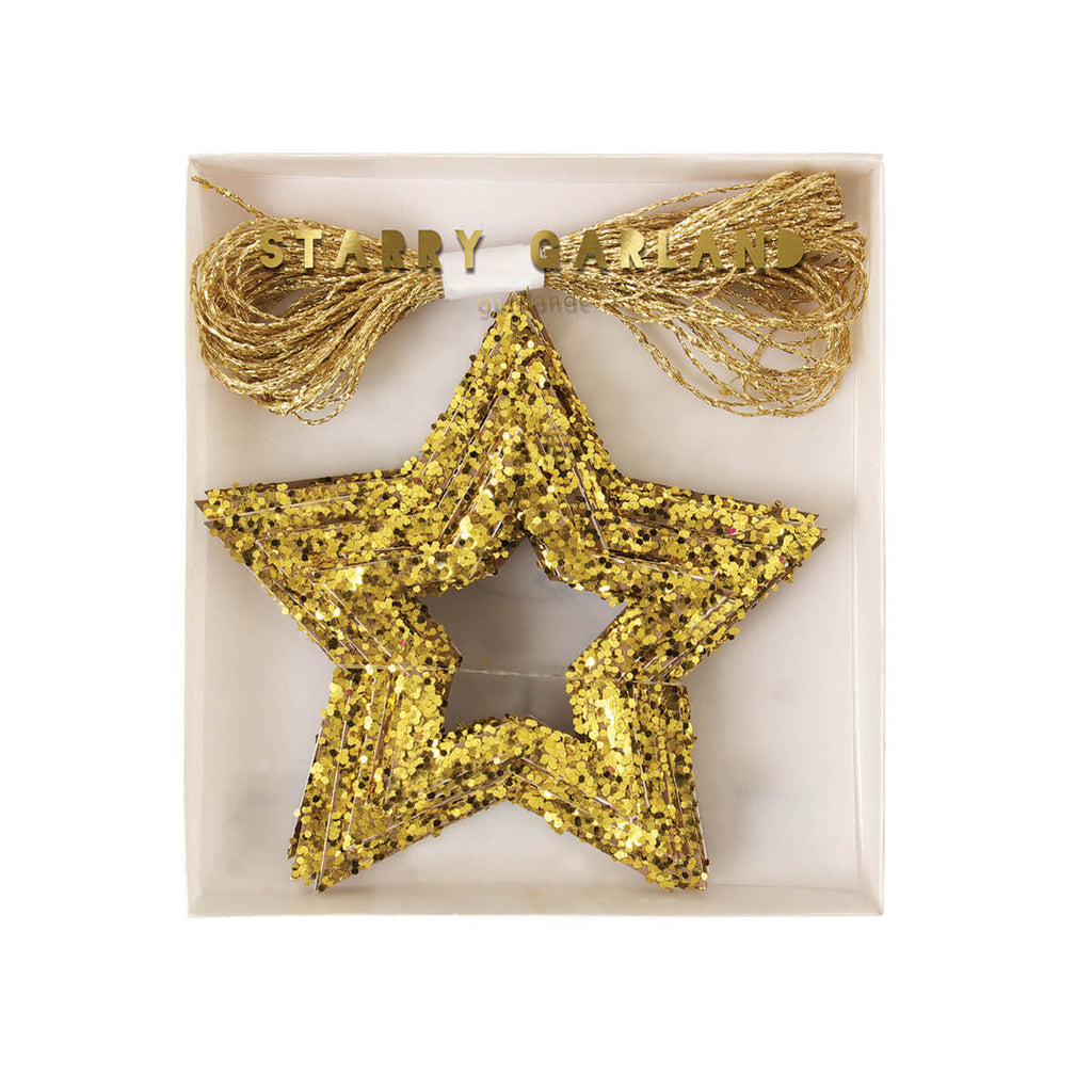 Chunky Glitter Stars Mini Garland by Meri Meri - Junior Edition