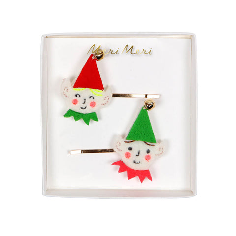 Santa's Elf Hair Pins by Meri Meri - Junior Edition