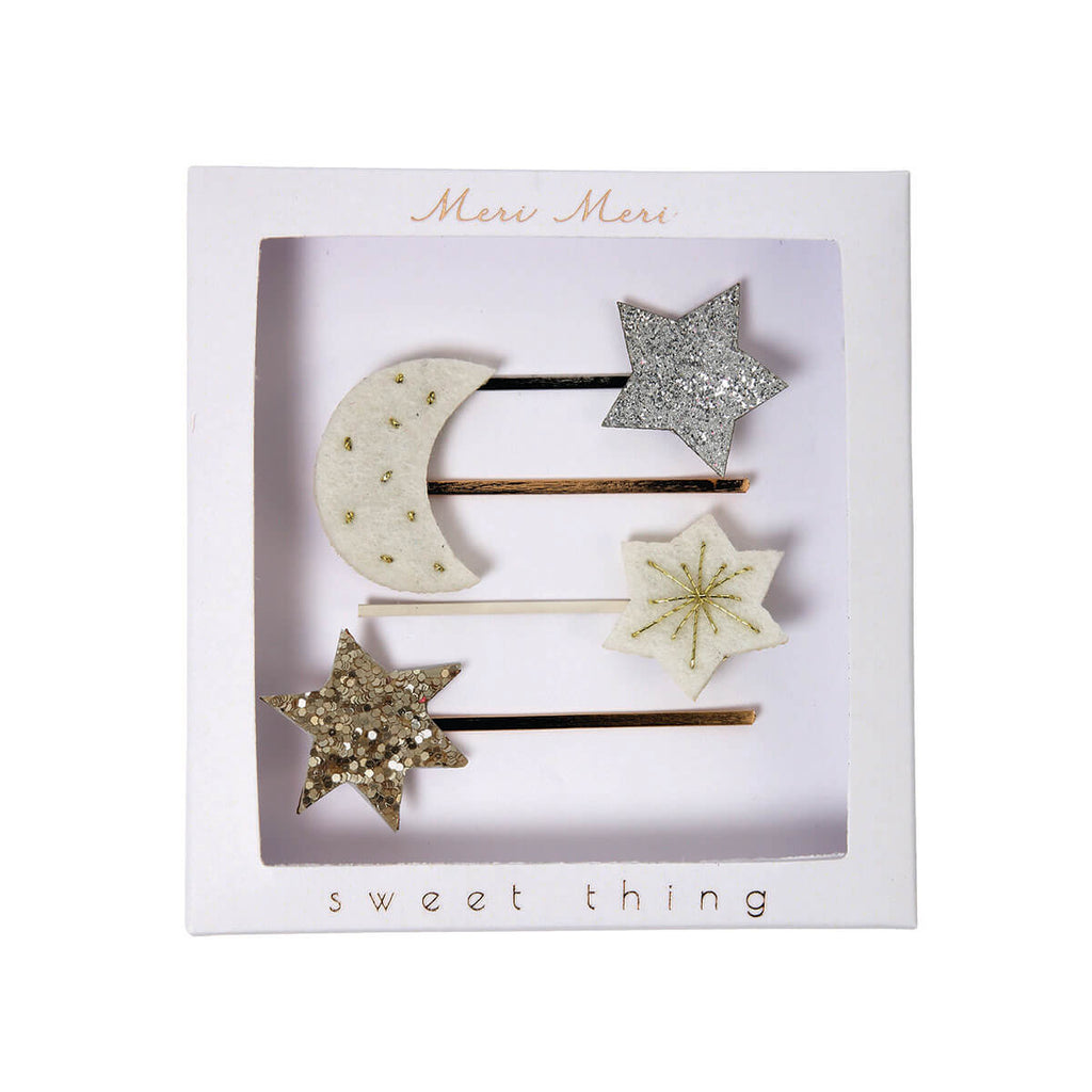 Moon And Star Hair Pins by Meri Meri - Junior Edition