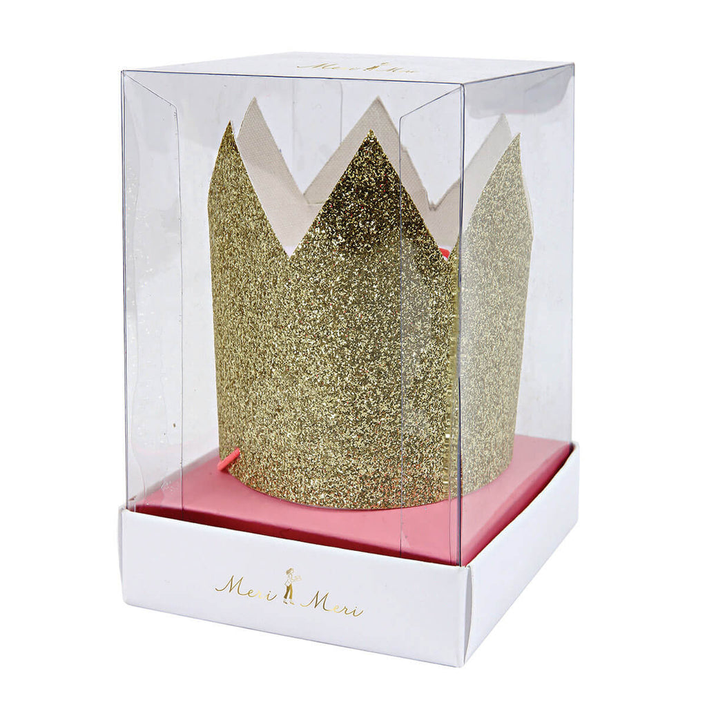Mini Gold Glittered Crowns by Meri Meri - Junior Edition