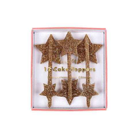 Gold Star Cake Toppers by Meri Meri - Junior Edition