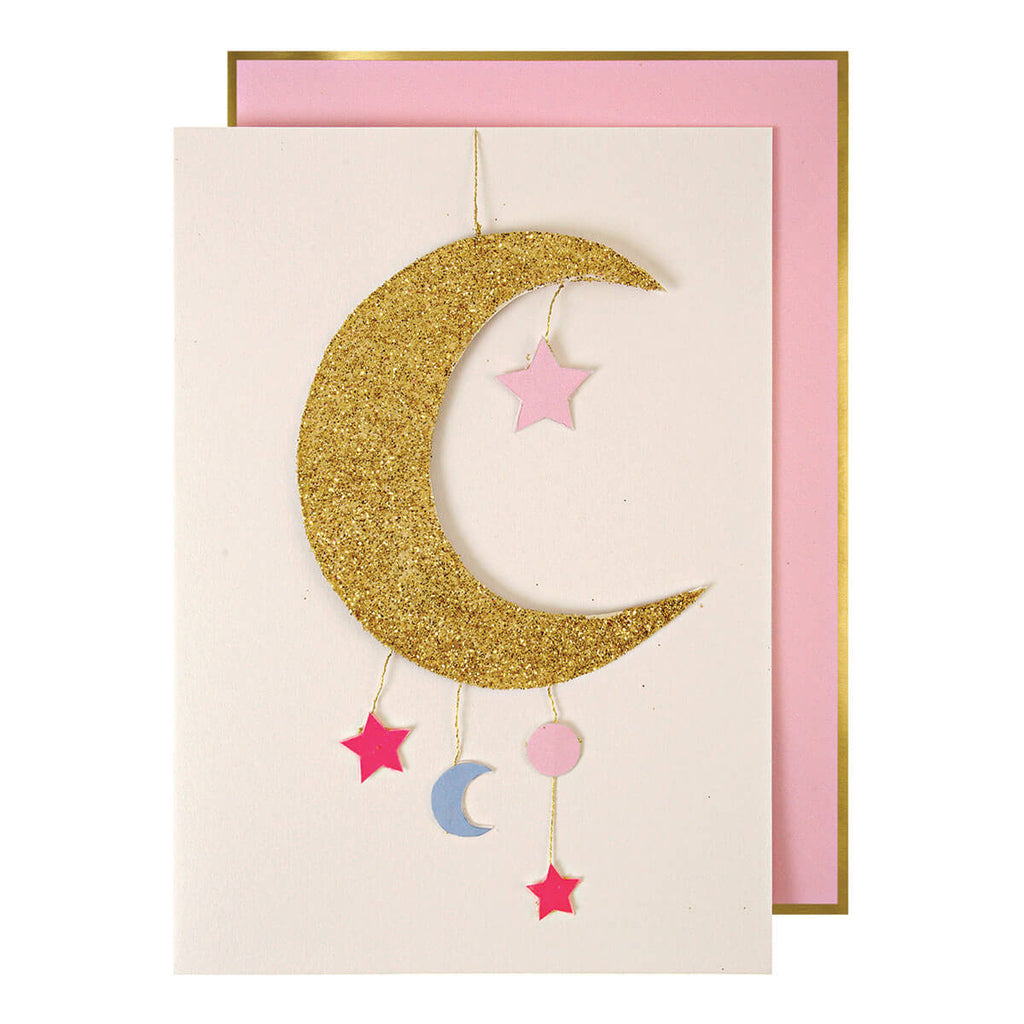 Baby Girl Mobile Greetings Card by Meri Meri - Junior Edition