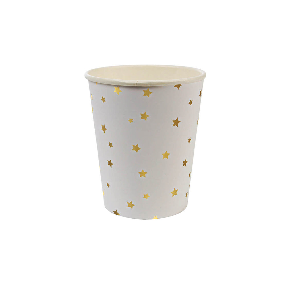 Gold Stars Party Cups by Meri Meri - Junior Edition