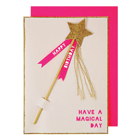 Magic Wand Greetings Card by Meri Meri - Junior Edition