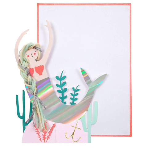 Mermaid Scene Greetings Card by Meri Meri - Junior Edition