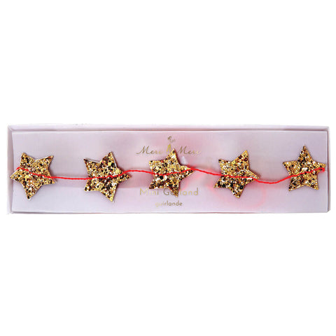 Gold Star Mini Garland by Meri Meri