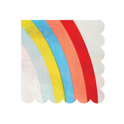 Rainbow Party Napkins by Meri Meri - Junior Edition