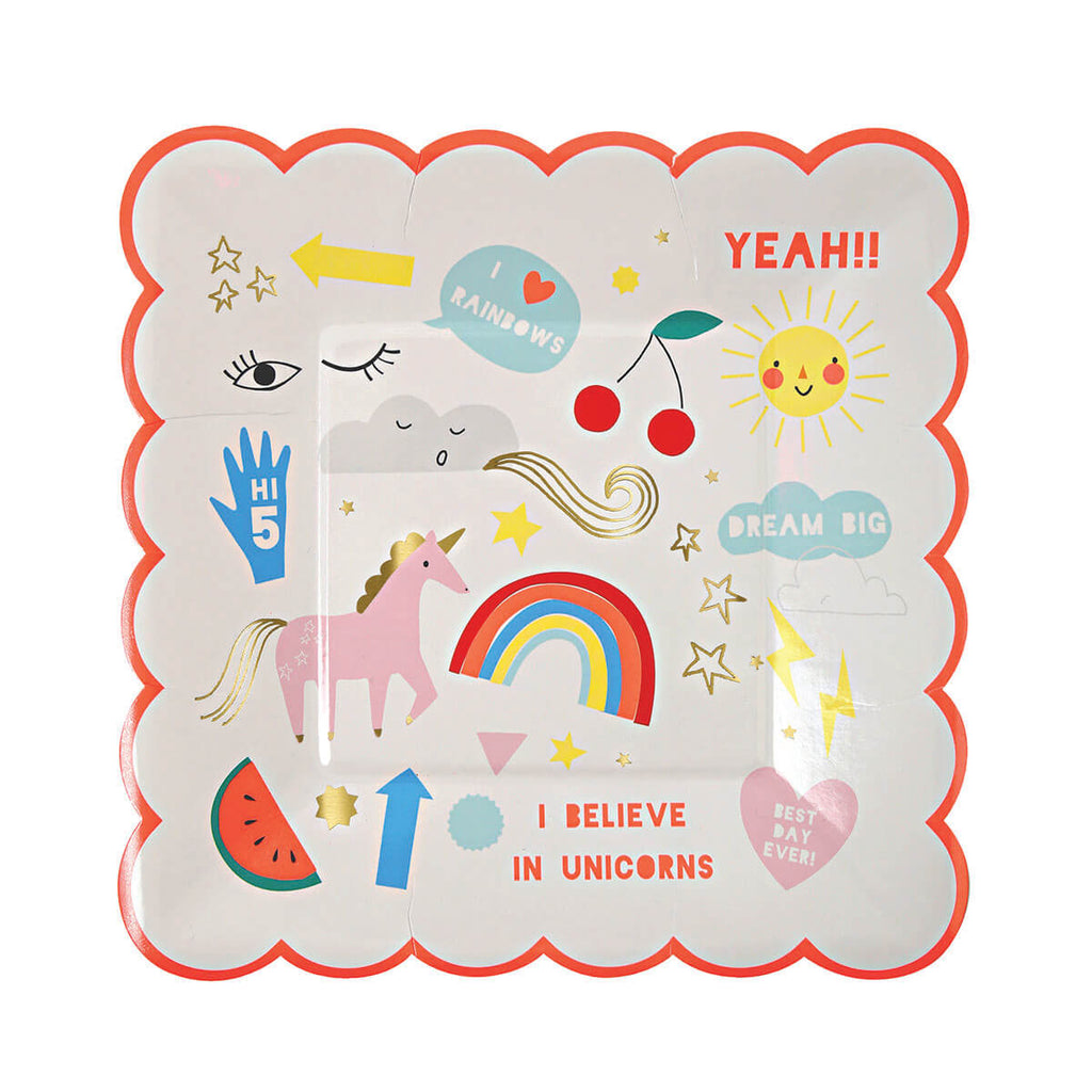 Unicorn Party Plates by Meri Meri - Junior Edition
