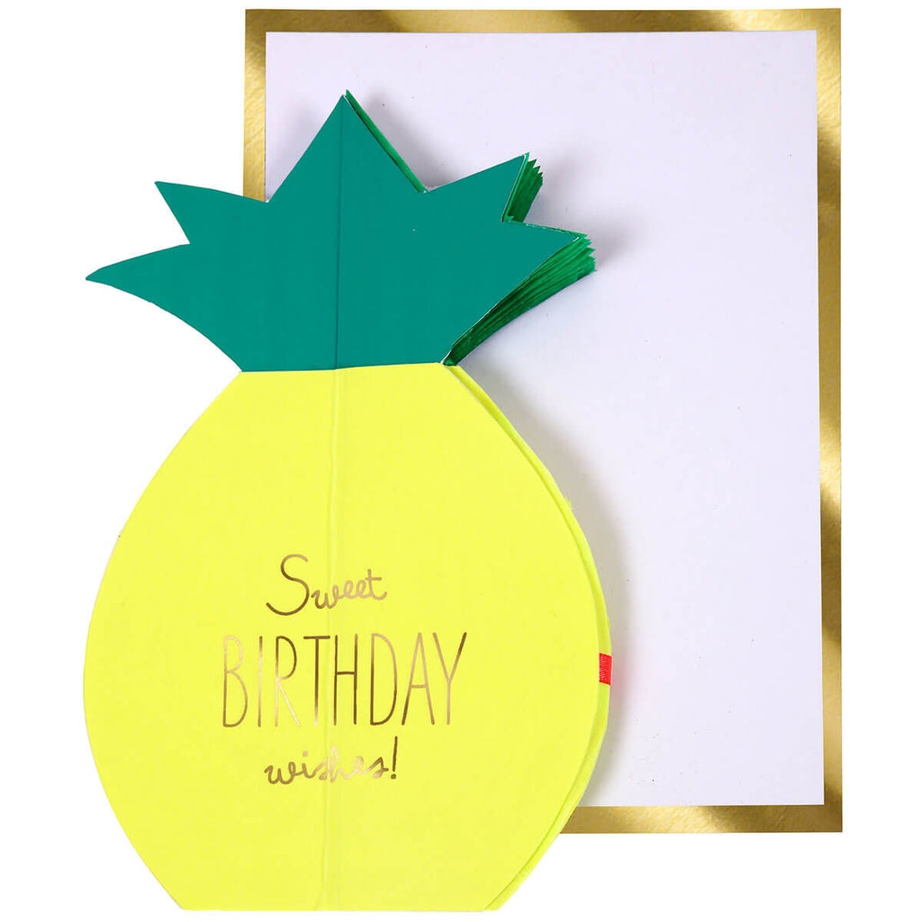 Pineapple Honeycomb Greetings Card by Meri Meri - Junior Edition