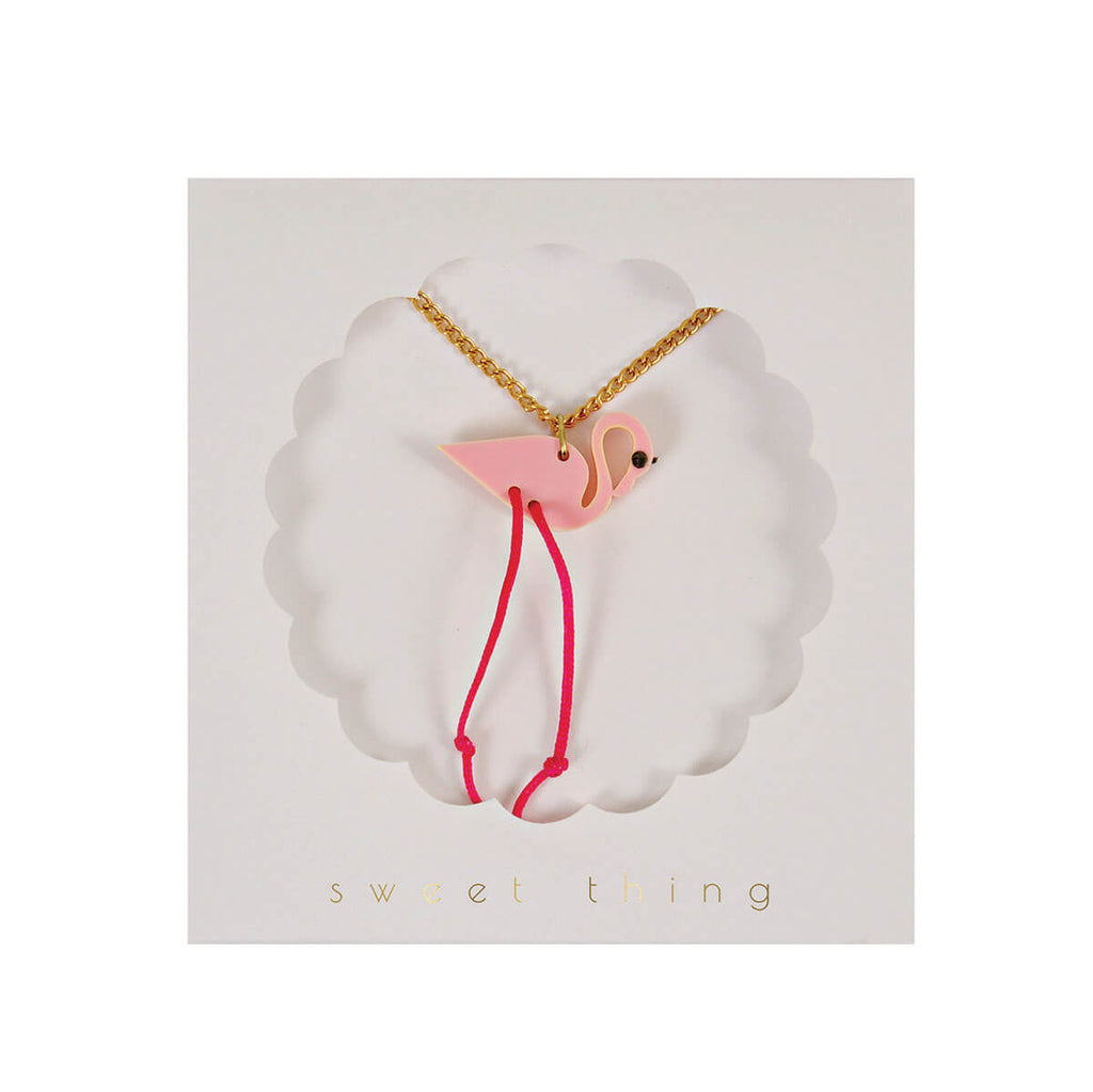 Flamingo Necklace by Meri Meri - Junior Edition