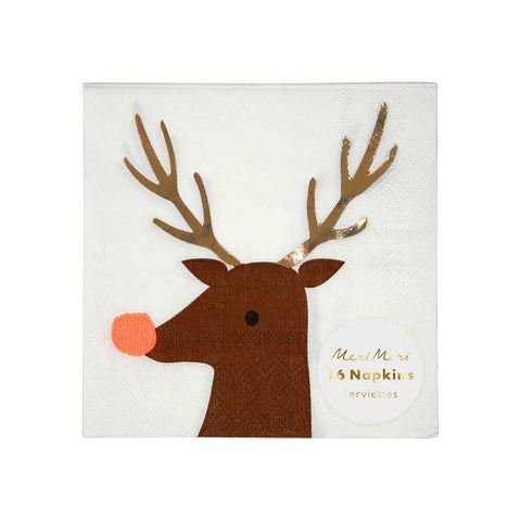Reindeer Party Napkins by Meri Meri - Junior Edition