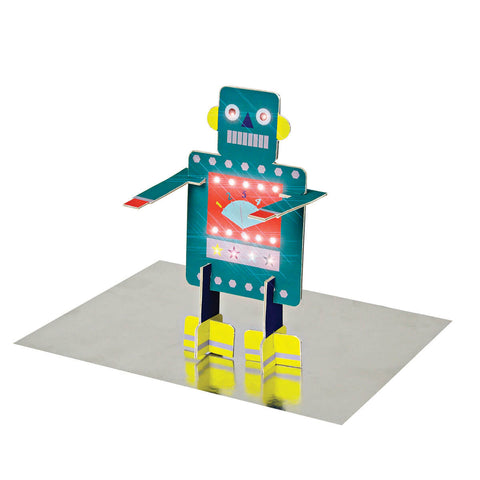 Stand Up Robot Greetings Card by Meri Meri - Junior Edition