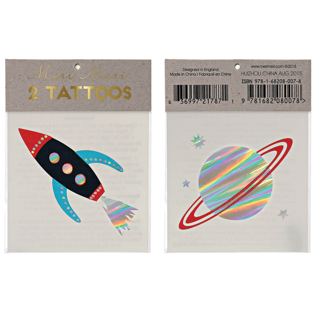 Space Tattoos by Meri Meri - Junior Edition