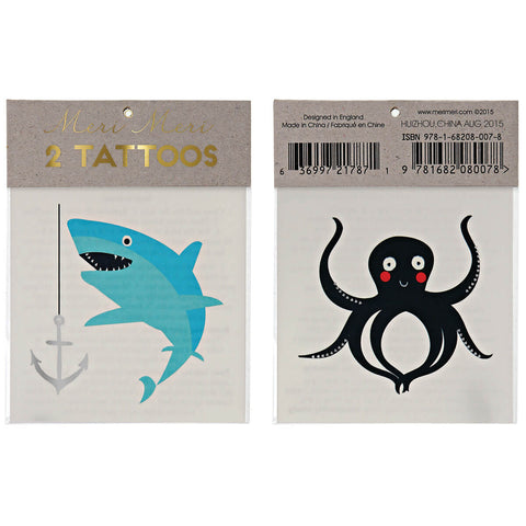 Sea Creatures Tattoos by Meri Meri - Junior Edition