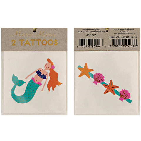 Mermaid Tattoos by Meri Meri - Junior Edition
