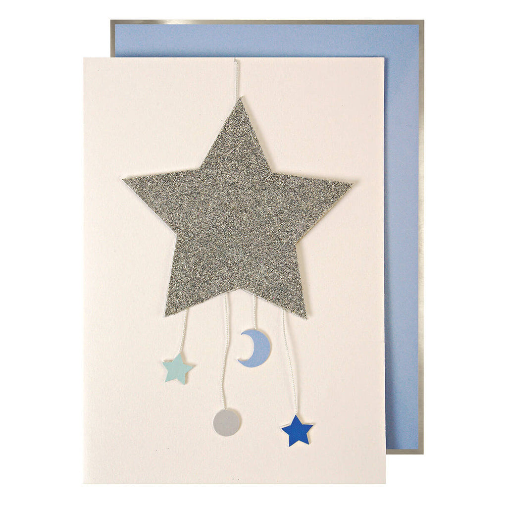 Baby Boy Mobile Greetings Card by Meri Meri - Junior Edition