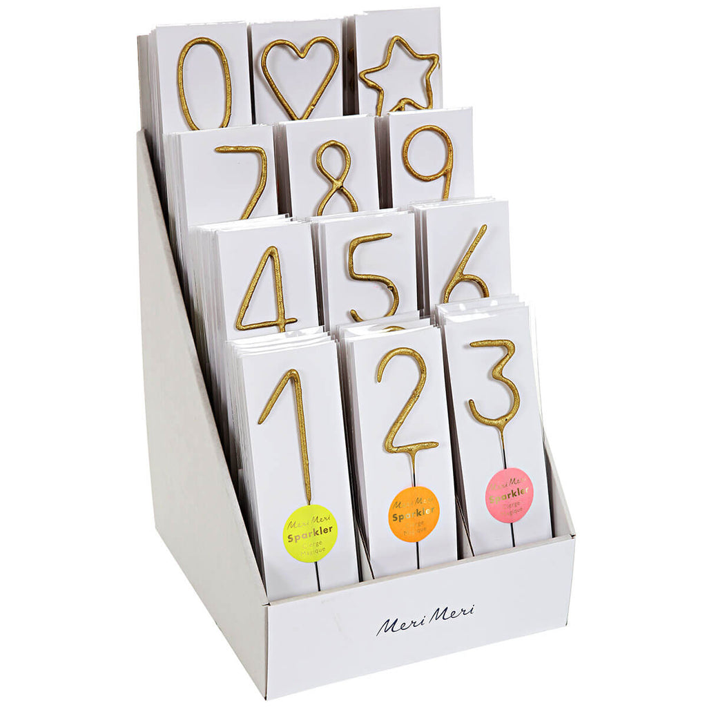Numbered Sparkler Candles by Meri Meri - Junior Edition