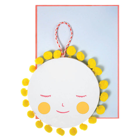 Sun With Pom Poms New Baby Card by Meri Meri - Junior Edition