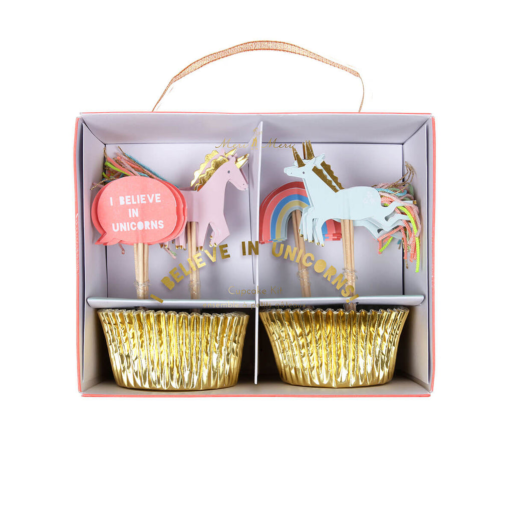 I Believe In Unicorns Cupcake Kit by Meri Meri - Junior Edition