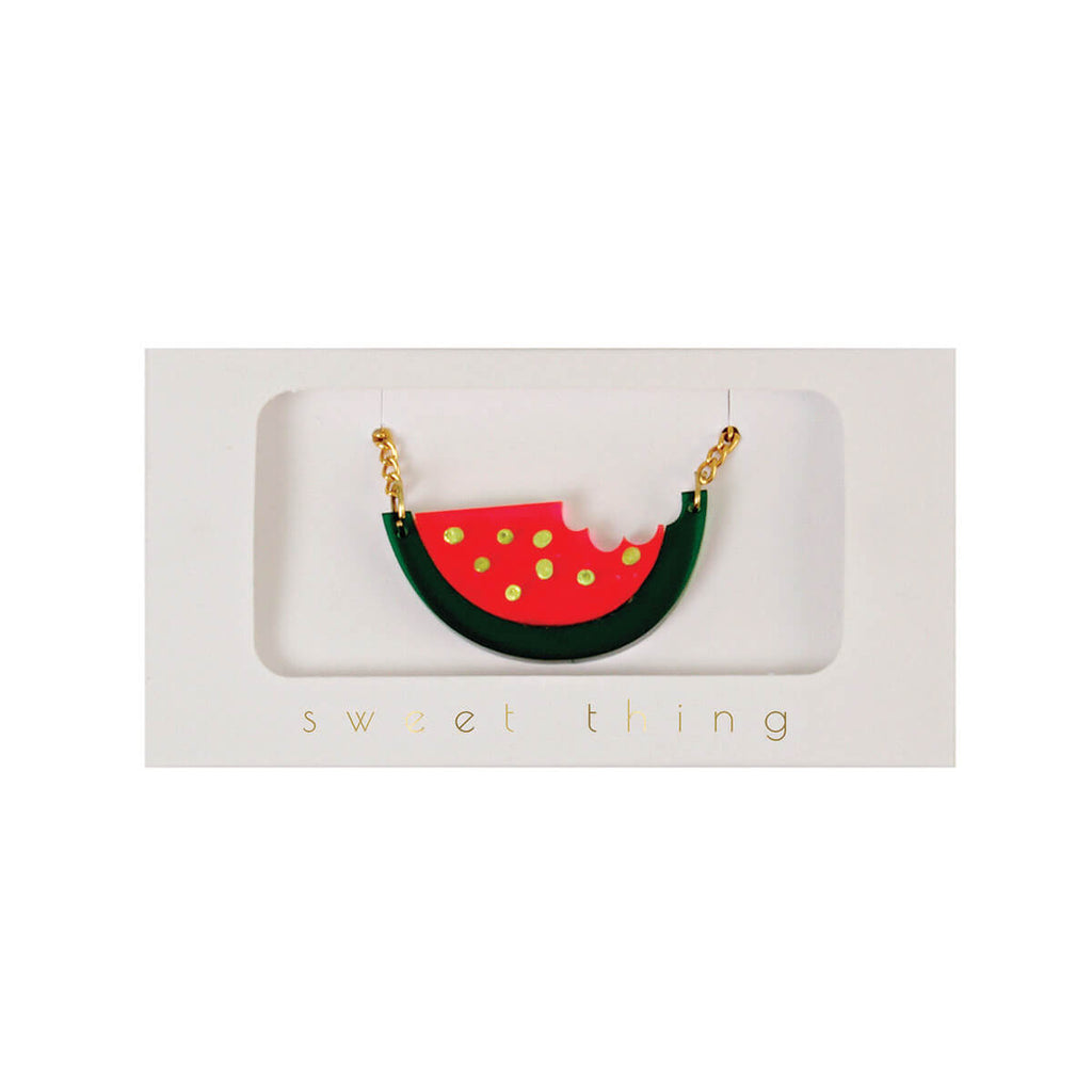 Watermelon Necklace by Meri Meri - Junior Edition