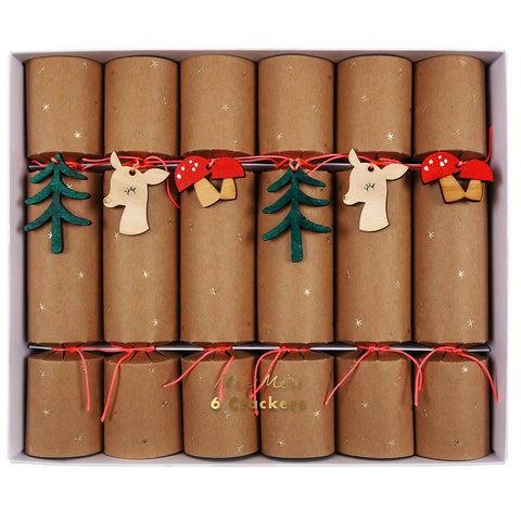 Woodland Tree Decoration Crackers by Meri Meri - Junior Edition
