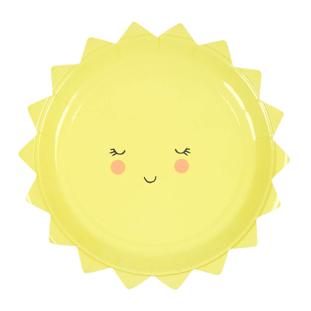 Sun Party Plates by Meri Meri - Junior Edition
