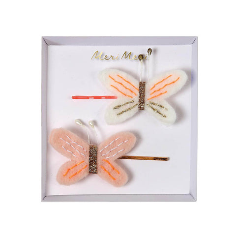 Embroidered Butterfly Hair Clips by Meri Meri