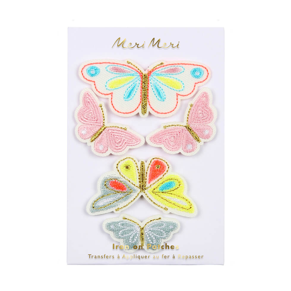Butterfly Iron On Patches by Meri Meri - Junior Edition