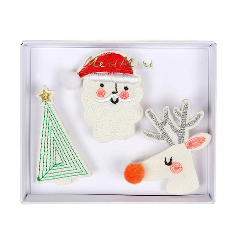 Festive Embroidered Brooches by Meri Meri
