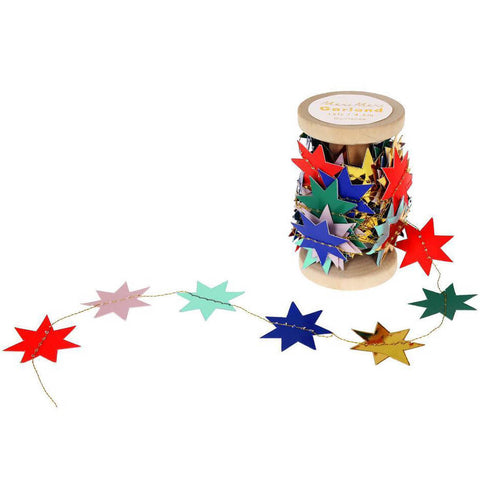 Festive Star Stitched Garland by Meri Meri