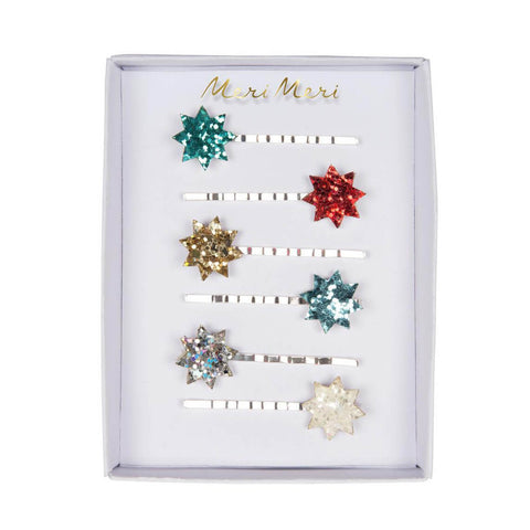Glitter Star Hair Pins by Meri Meri