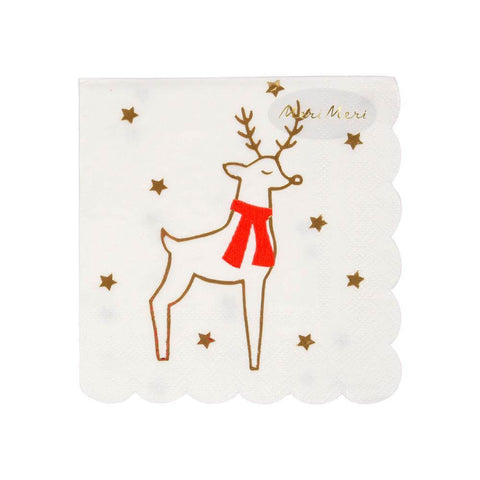 Reindeer And Stars Small Party Napkins by Meri Meri