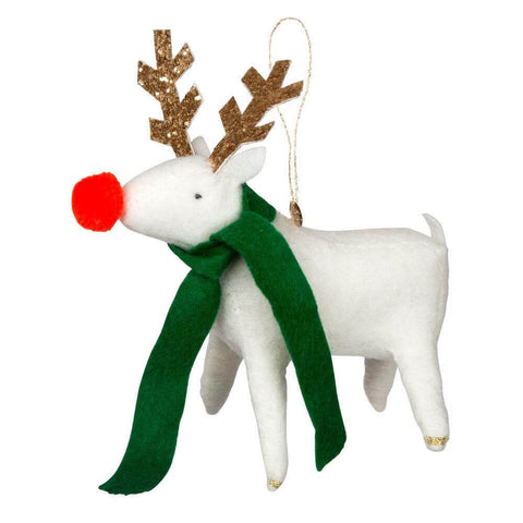 Reindeer Felt Christmas Tree Decoration by Meri Meri