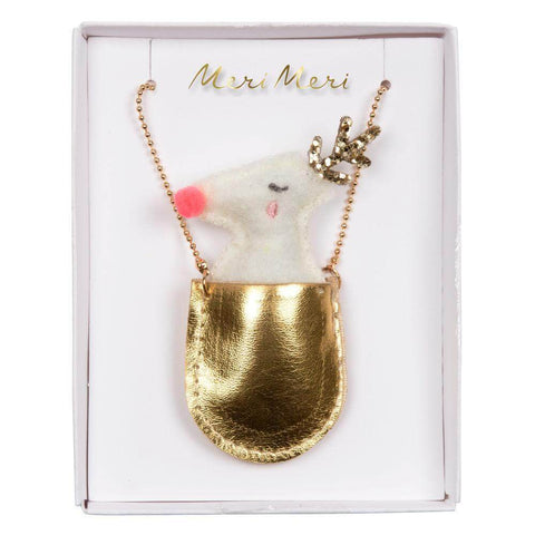Reindeer Pocket Necklace by Meri Meri